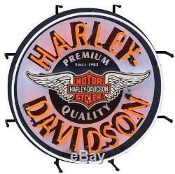 New Harley Davidson Motorcycles Winged Bar & Shield Neon Sign HDL-15409