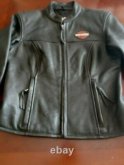 New Harley Davidson Womens Leather Bar And Shield Jacket Small