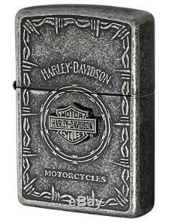 New Japan Limited Zippo Harley-Davidson S Metal Bar & Shield HDP Oil Lighter F/S