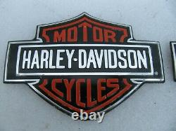 New NOS Harley Davidson Bar & Shield Gas Tank Medallion Badges Emblems FXR