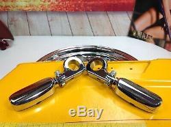 OEM Harley 88-17 Bar & Shield Crash Engine Guard Bar Touring Pegs Chrome