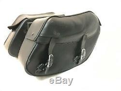 OEM Harley-Davidson Dyna Bar and Shield Rigid Mount Leather Saddlebags
