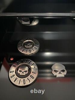 OEM Harley Willie G. Skull CVO Round Fuel Gas Tank Emblems Badges + Bar & Shield