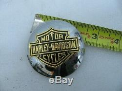 One NOS Harley Davidson Bar Shield Medallion Gas Cap Cover 99023-81V Shovelhead
