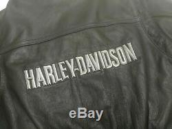 PRISTEEN Genuine Harley Davidson Leather Motorcycle Jacket Bar and Shield Small