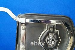 RARE Genuine Harley FXWG King & Queen Sissy Bar Backrest with Bar & Shield 80-86