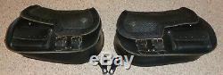 RARE VTG Harley Davidson Bar and Shield Softail Leather Saddlebags FLSTC FXSTSB