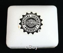 Stamper- 10k 14k Gold Harley Davidson Bar Shield & Heart Post Stud Earrings