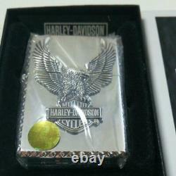 Used Zippo Harley Davidson Eagle Bar Shield Mirror Plating Japan Super Cool Rare