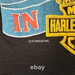 VTG Harley Davidson Born In The USA S T Shirt Single Stitch Eagle Bar Shield 80s