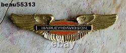 Vintage Harley Davidson Bar & Shield Wing 1950 1960 1970 Style Logo Vest Pin