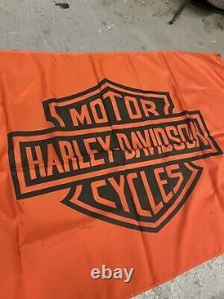Vintage Harley Davidson Flag Banner Bar And Shield 1960s Shirt Biker Chopper