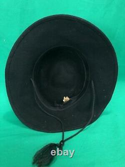 Vintage Harley Davidson Wool And Leather Bar And Shield Old Timer Hat USA