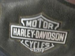 Vintage OEM'85 Harley FXR backrest sissy bar upright pad bar & shield emblem