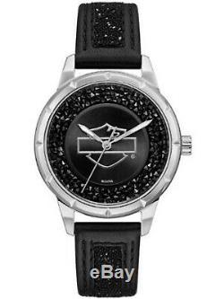 Women's Harley Davidson Bar & Shield Swarovski Watch 76L192