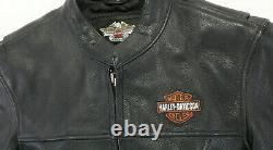 Womens Harley Davidson leather jacket L Stock 98112-06VW black bar shield zip