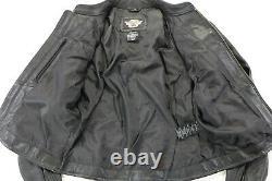 Womens Harley Davidson leather jacket M Stock 98112-06VW black bar shield zip
