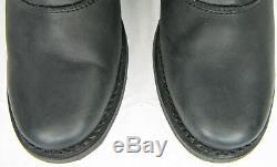 Womens harley davidson leather boots 7 black Jana D83562 pull on zip bar shield