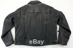 Womens harley davidson leather jacket L black nevada 98122-03VW zip bar shield