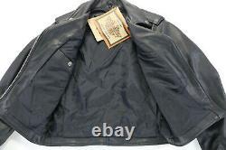 Womens harley davidson leather jacket S basic skins black double zip bar shield