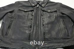 Womens harley davidson leather jacket S black nevada 98122-03VW zip bar shield