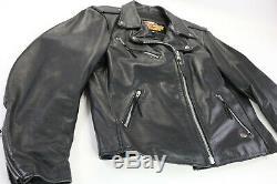 Womens harley davidson leather jacket XL basic skins black double zip bar shield