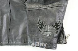 Womens harley davidson leather jacket xl black spirited studs studded bar shield