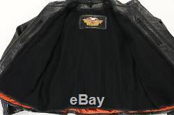 Womens harley davison leather jacket xs black bar shield liner soft cafe zip guc