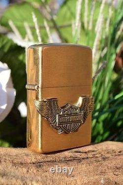 Zippo Lighter Harley Davidson Bar & Shield with Wings Rare 204BHD H281