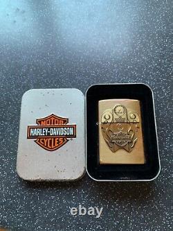 Zippo Lighter Harley Davidson Fuel Tank Bar & Shield H266 New, Unstruck