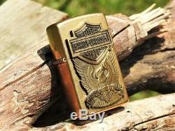 Zippo Lighter Harley Davidson Made In USA Eagle Bar & Shield 204BHD H283