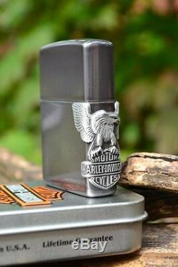Zippo Lighter Harley Davidson Side Mount Eagle Bar and Shield M250HD H141
