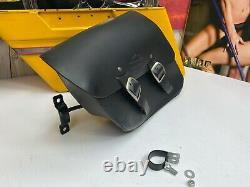 04-20 Harley Sportster Single-sided Swingarm Bag Black Bar & Shield Withbracket