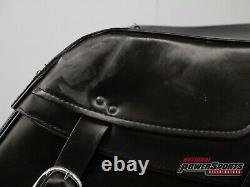 2002 2017 Genuine Harley Davidson Dyna Leather Bar & Shield Saddlebags