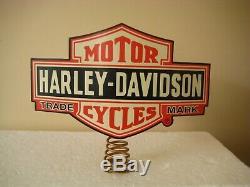 2007 Harley Davidson Bar & Shield Christmas Tree Topper 96876-08v