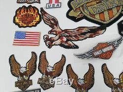 46 Harley Davidson Correctifs Lot Hog Owners Group D'eagle Bar & Shield Sturgis Ailes