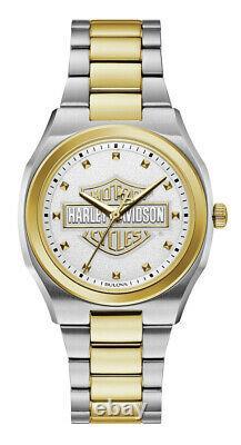 78l129 Harley-davidson Women's Bar & Shield Silver & Gold Stainless Steel Watch