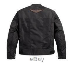 98162-17em Harley-davidson Veste D'équitation En Mesh Avec Logo Et Bouclier Nouveau