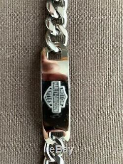 Acier Inoxydable Harley Davidson Bracelet Avec Logo Bar Et Le Bouclier, 8 Pouces