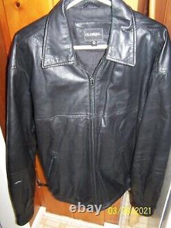 Bar Et Bouclier Harley Patch Sur Le Dos Des Hommes Taille XL (50) Veste En Cuir Noir