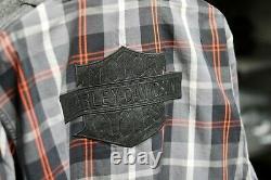 Bar Et Bouclier Pour Hommes Harley-davidson Logo Shirt À Manches Longues 96344-21vm