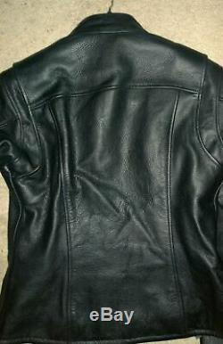 Bar Harley Davidson Femmes Et Bouclier D'équitation En Cuir Veste Taille Petite / Xs