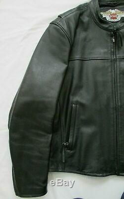 Bar Harley Davidson Mint Hommes Et Bouclier D'équitation En Cuir Veste XL