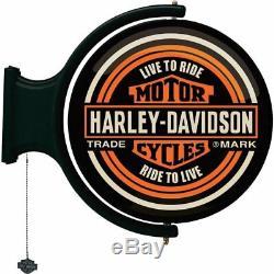Barre De Lumière Rotative Harley-davidson Bar & Shield Éclairage De Nuit Pour Un Bar Tournant