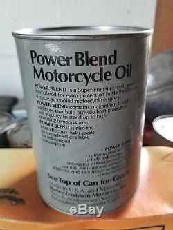 Bidon D'huile Pour Motocyclette Harley Davidson Bar & Shield Gris Powerblend