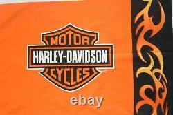 Biker Blanc Harley Davidson Bar & Shield Logo Ensemble De Feuille De Lit Tissu De Courtepointe