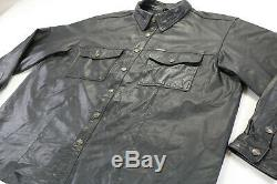 Bouclier De Barre Noire De Mens Harley Veste Chemise En Cuir Davidson 98111-98vm Accrochage