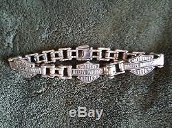 Bracelet Vintage Harley Davidson Bar & Shield Argent Argent 10 Lourd71 Grammes