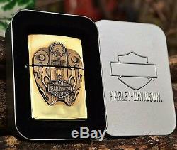 Briquet Zippo Harley Davidson Surprise Barre Et Bouclier Surprise 254bhd H266