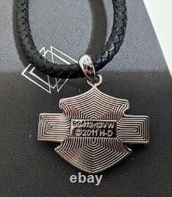 Collier Pour Femmes Harley Davidson Sur Cuir Tressé #99412-12vw